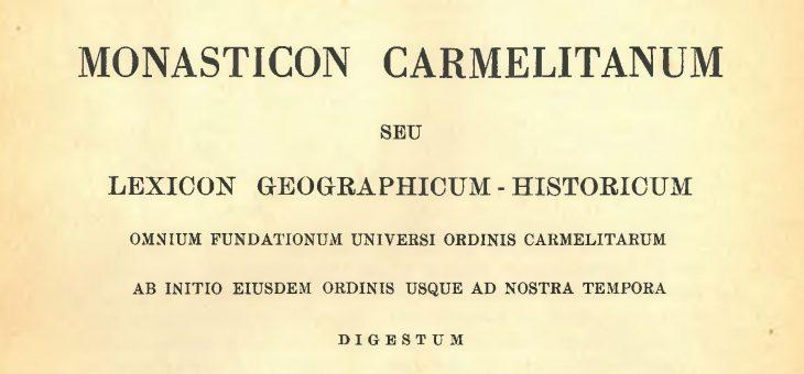 MONASTICON CARMELITANUM