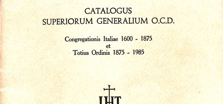 CATALOGUS SUPERIORUM GENERALIUM OCD